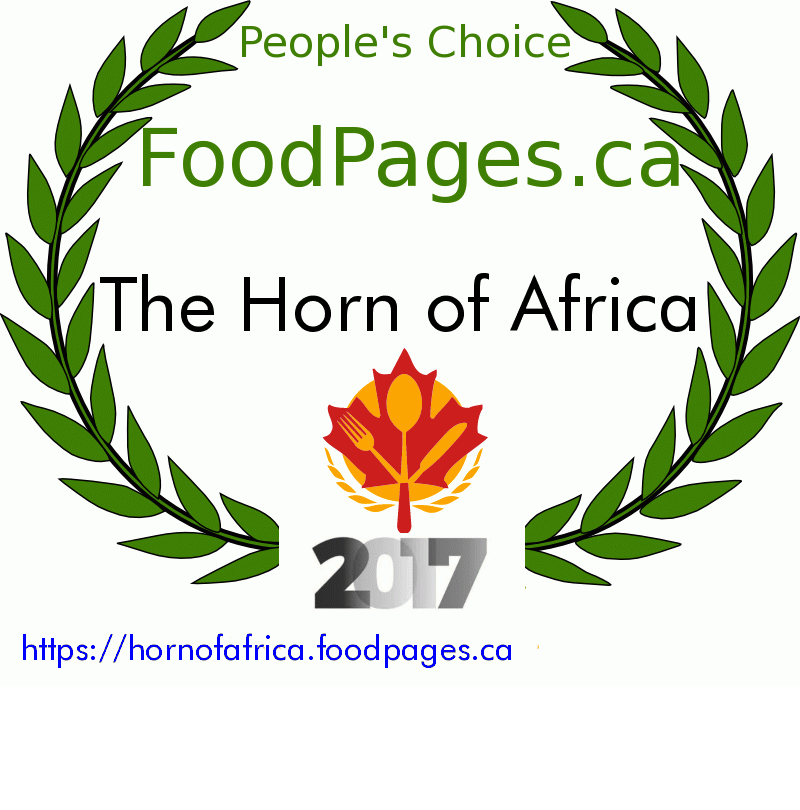 The Horn of Africa FoodPages.ca 2017 Award Winner